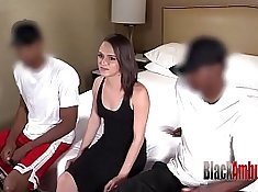 Anal interracial creampie for the three experienced gals