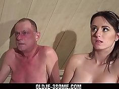 cock hungry grandpas have sex with threeway stud