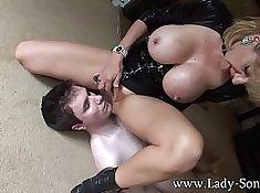 Beautiful lady sonia posing bare breasts and masturbating