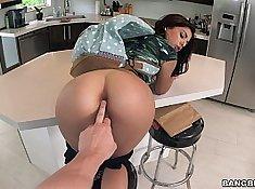 Sexy babe Gina Valentina has been naughty