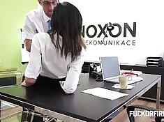 Office flexible wife ass fucked