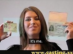Professional student girl assfucked on casting stand
