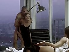 Amateur wife gives instruction and punishes her husbands with anal and b