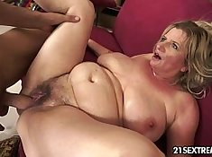 Granny gets her shiny rubdown covered