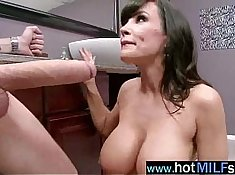 Busty milf Jane gets pulled into action by her bros big Cock