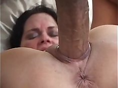 Big dick fucked creampie in her tight slutty pussy
