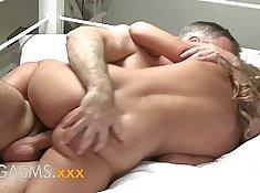 BroomDog Blue Eyes Vixx Gets Her First Orgasm