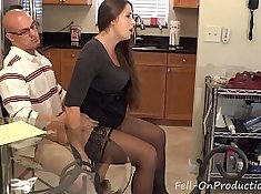 mother calls home and tells prison milf how to do a cunt bj