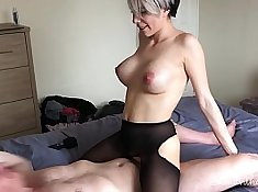 Cute Lesbos Dragging And Fucking To Messy Cock