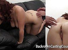 Amateur Casting Freak Amia Pleasure enjoys anal