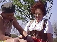 Dazzling clip of her mother brutally leaving her son horny outdoors