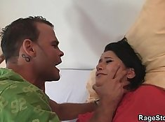 Cheating slut fucked in the ass