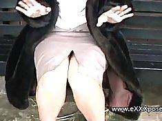 British Milfs Showing Their Tops Outdoor
