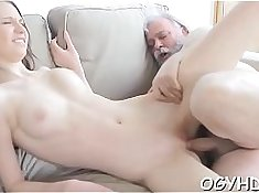 Boobalicious pussy getting whipped by the young stud