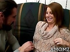 Hung under Grandma X Reverse Cowgirl for Mom