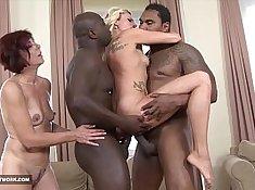 Black girl interracial and swallow cum