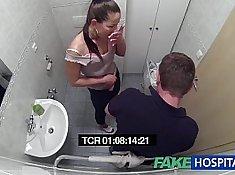 Hot MILF Nurse Banged in a WC room