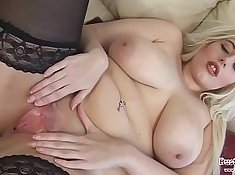 Big tit blonde fat booty slut Anastasia Malone blowjob and titfuck