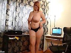 Amateur Busty Bbw Make Out Masturbation