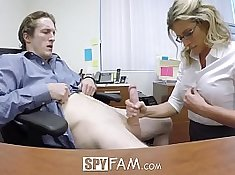 Step Mom and Son Getting A Hum mmh y over at Office