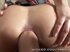 Young blonde gets anal hammering