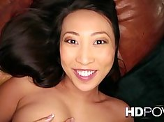 Asian babes huge tits fucking and dildoing in POV