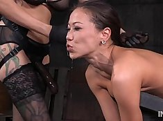Horny Asian slut Cody D is fucking her beautiful self