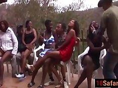 Black Ghetto Sluts Doing Interracial Sex Party